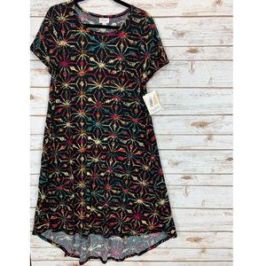 LuLaRoe Carly Dress Medium Multi-Color NWT